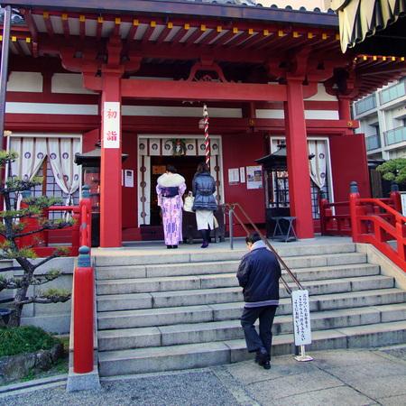 New Year's Visit to Shrine 写真素材 - 136063820