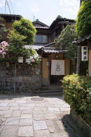 Japanese old street Isibekoji at Kyoto 報道画像
