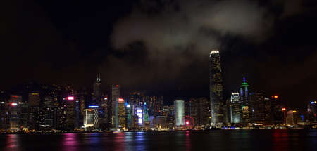 Hong Kong Victoria Harbour Night View 報道画像
