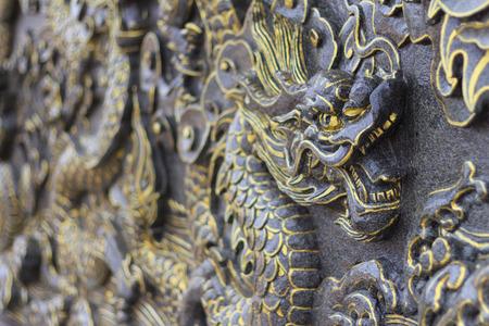 bas relief: Dragon bas relief statue