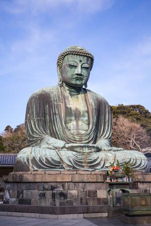 kamakura: kamakura daibutsu in japan