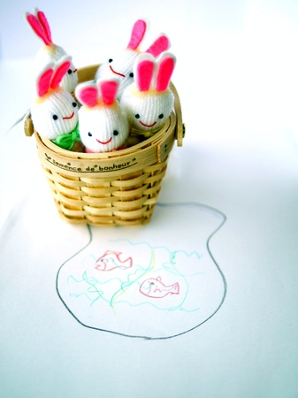 rabbit puppet photo
