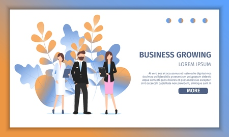 Different Business Character Occupation Choice. Career Profession Challenge. Professional Manager Woman, Female Doctor and Pilot Man Pose for Job Fair Banner Flat Cartoon Vector Illustration