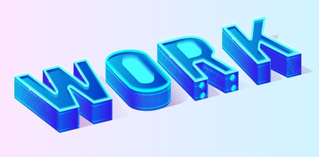 Conceptual Blue Work Motivation Banner for Business. Neon Vector Isometric Illustration Means Effective Working Team Activity Results Satisfying Company Needs. Secrets, Methods, Incentives, Approaches