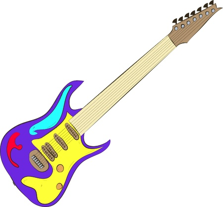 tremolo: electric guitar isolated on white
