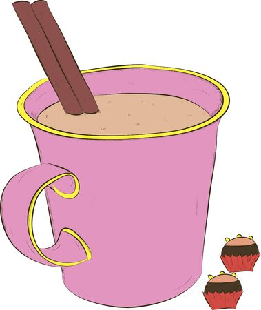cup of coffee and sweets Stock Vector - 21065447