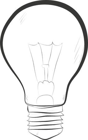 lit light bulb isolated on white