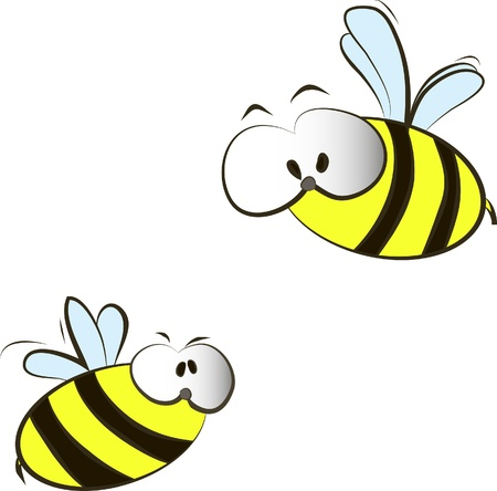 funny cartoon bees Vector