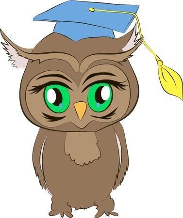 academic owl cartoon