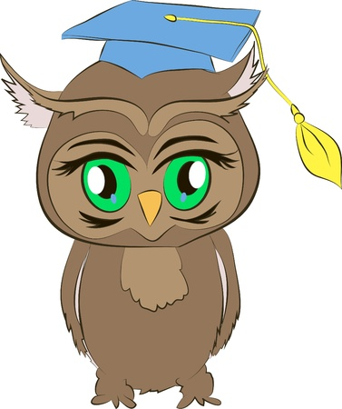 buho graduacion: historieta acad�mica b�ho Vectores