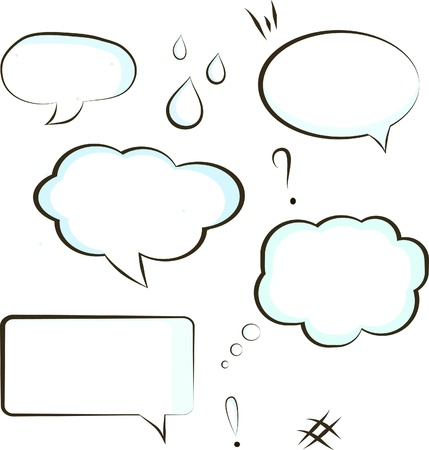 comic book speech bubble symbol  Çizim