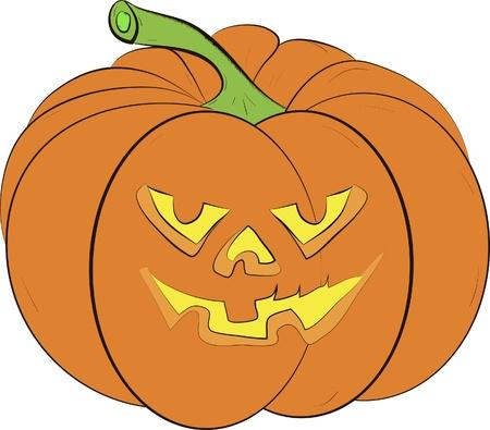 smilling: halloween pumpkin