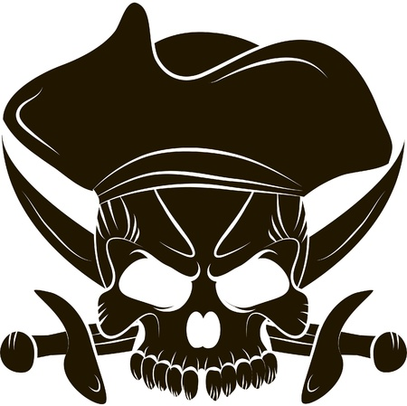 Piraten-Schädel und Schwerter Standard-Bild - 21572329