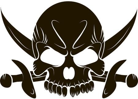 mercenary: Pirate Skull and Swords