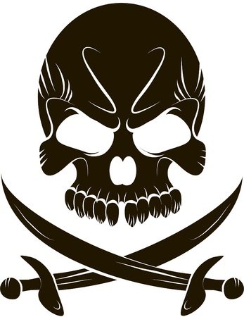 roger: Pirate Skull and Swords