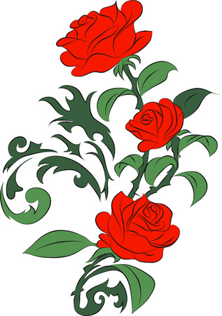 red roses Stock Vector - 23110183