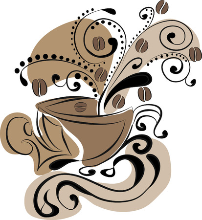 cup of coffee - abstraction Illustration