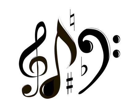 g clefs: treble clef and note