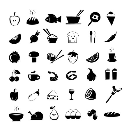 Food icons set Stock Vector - 24635412
