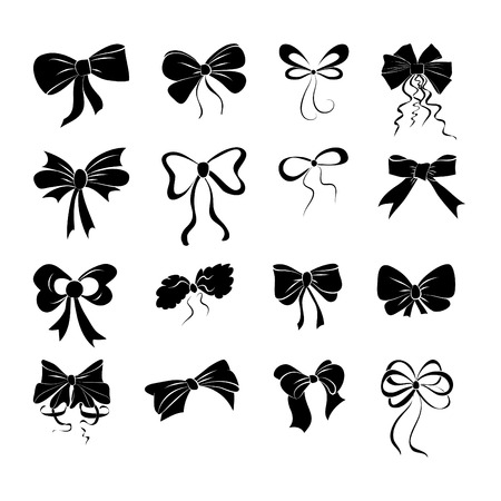 graphical: Set of graphical decorative bows