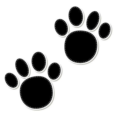 animal paw prints: Animal paw prints icons with shadow effect