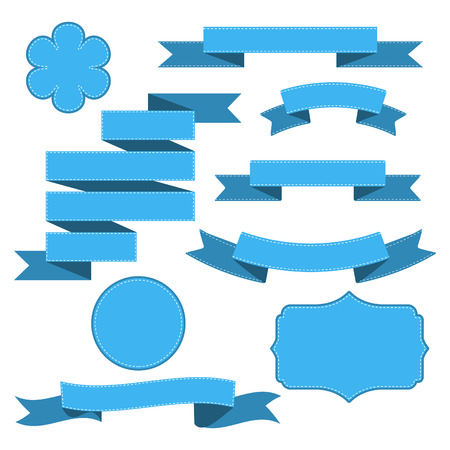 Set of curled ribbons, vector illustration Stok Fotoğraf - 28599666