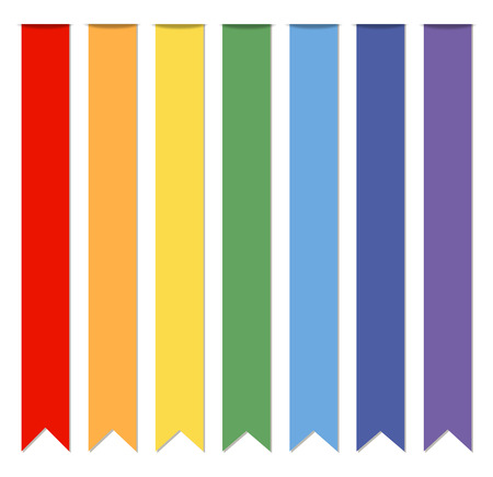 Set of ribbons, vector illustration