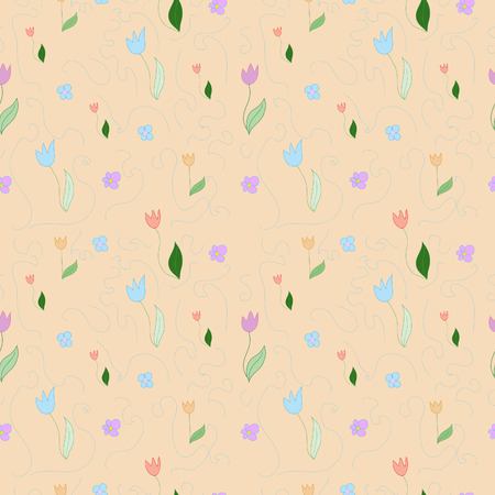 Seamless floral pattern. Flowers texture. Vector