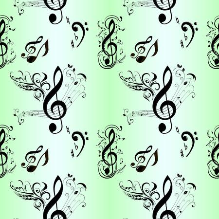 tonality: Seamless Pattern of Music Notes