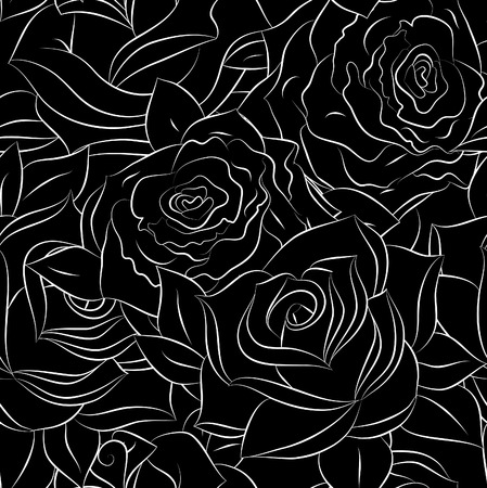 keywords  backdrop: Seamless pattern with rose flowers for background design.