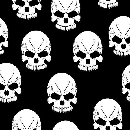 glum: Seamless pattern with skulls background
