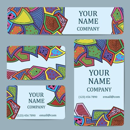 decorative elements: Business cards. Card or invitation.Vintage decorative elements. Illustration