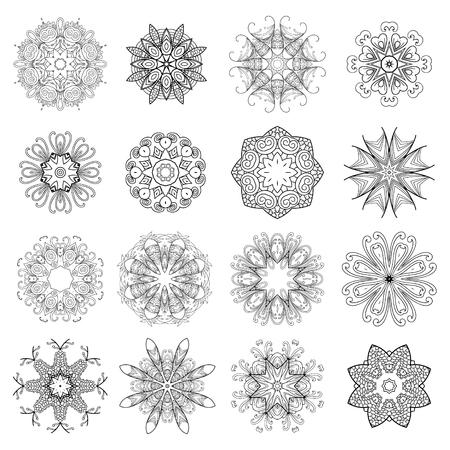 Mandala. Round Ornament Pattern. Snowflake