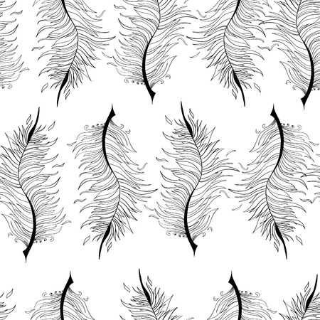stylize: Seamless pattern with abstract feather