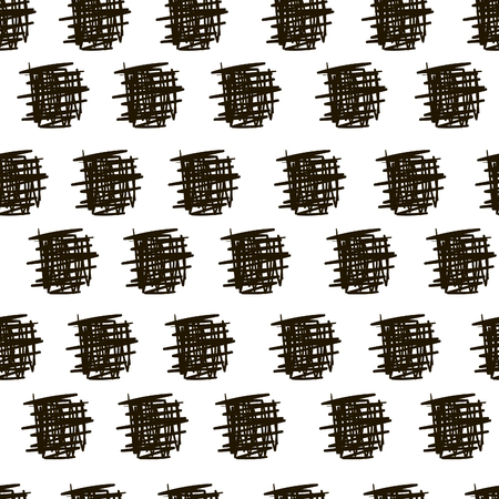 scribbles: Seamless pattern background with ink doodle lines scribbles of pen, hatching, scratch Illustration