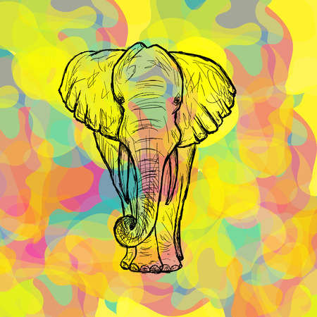 Greeting Beautiful card with Indian Elephant.
