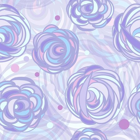 Seamless background with abstract roses Çizim