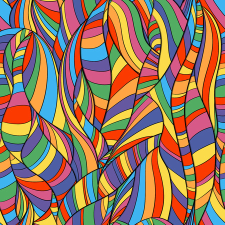 Multicolored pattern with abstract lines and waves