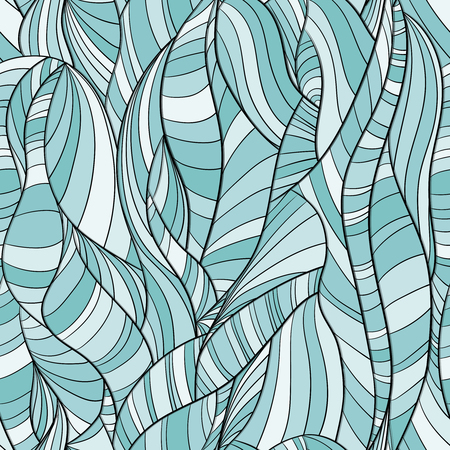 Multicolored seamless background pattern abstract lines and waves. Çizim