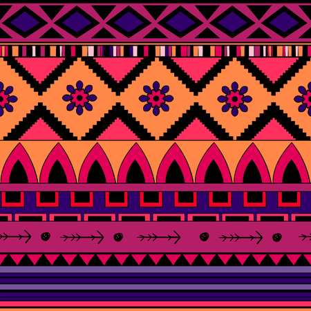 Seamless pattern background in ethnic style. Embroidery