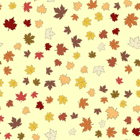 Seamless pattern with autumn leaves. Thanksgiving background
