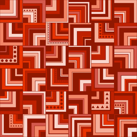 Seamless geometric pattern background with squares, circles and triangles Stok Fotoğraf - 114497620