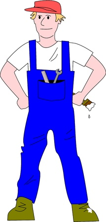 person who knows different skills in repair and maintainance. Illustration