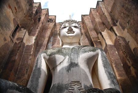 Monuments of buddah, old capital of THAILAND photo