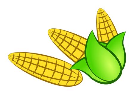 sweetcorn: cartoon corn,isolated,vector illustration