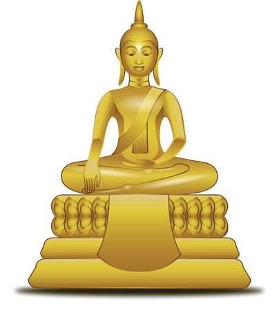golden image of Buddha in vector style,illustration