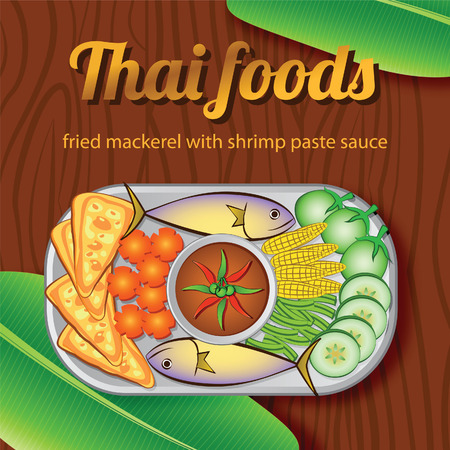 Thai delicious and famous food banner
