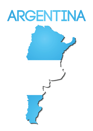 national flag color of Argentina in map gradient design