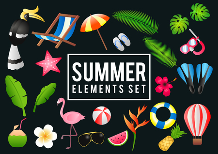 Summer decorative element with its symbol,modern and fashionable design,vector illustration 일러스트