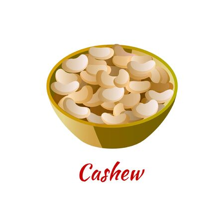 cashew is delicious and famous appetizer of Halal in colored gradient design icon, vector illustration